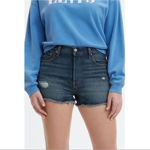 NWT Levi's 501 High Waisted Denim Shorts